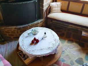 Hotel Ethaleia fireplace sitting area
